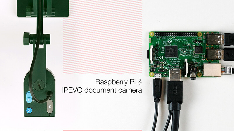 Create a low cost, portable workstation with a Raspberry Pi and an IPEVO document camera