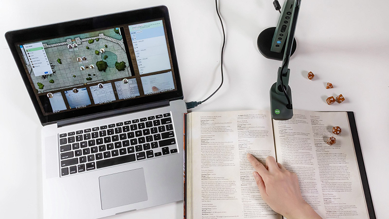 Playing tabletop games remotely using IPEVO document cameras