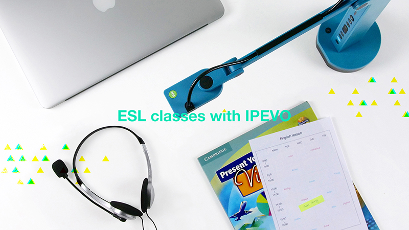 Teaching English as a second language with IPEVO