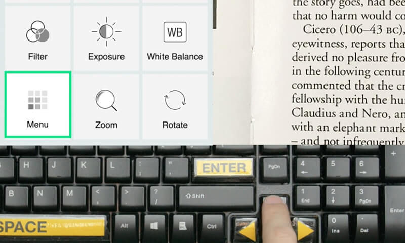 Visualizer's keyboard accessibility