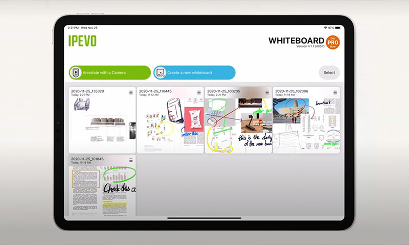 New IPEVO WHITEBOARD for iPad