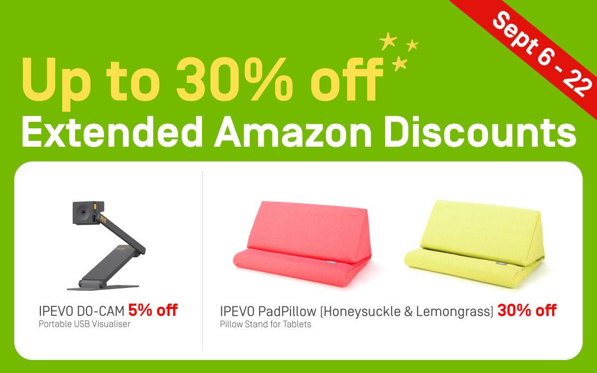 IPEVO's extended Amazon discounts